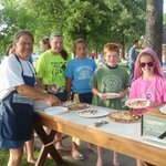Fun at the pizza party!