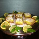 Lime Mojito Pecan Bars - delicious afternoon treat!