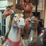 carousel at the boardwalk after a couple drinks at Joe's