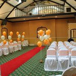 room ready for civil ceremony
