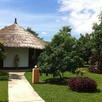 Our bungalow, there are 5 bungalows with each 2 rooms.