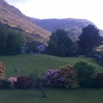 Beautiful view down Borrowdale across Gillercombe garden