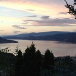 Beautiful sunset over Kelowna