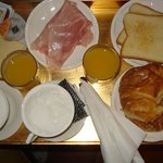 Breakfast served in room