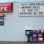 Welcome to the Blue Bonnet Cafe