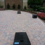Corn Hole in Courtyard