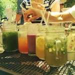 Berry, Tarragon, Cucumber, Ginger, and Iced tea