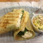 Turkey Pepperjack Wrap with slaw