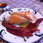 Beet Wellington & Three types of Bacon