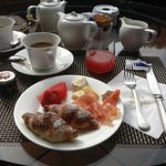 Breakfast from the buffet at Villa Fiesole