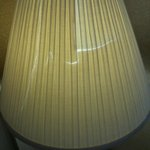 Lamp shade on floor lamp