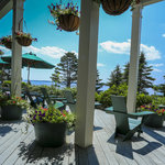 Spruce Point Inn porch in the shade