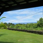 view from Hilo Bay room sliding doors