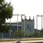 Right next to the Royals' stadium!