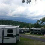 The view from H30 site.  Storms were rolling in.