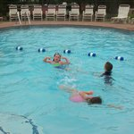 The heated pool was a main stop for us, never over crowded.