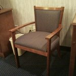 One of the chairs in the room