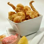 Judith Point calamari with cranberry jalapeno aioli