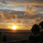 Beautiful St. Pete Beach sunset from the Miramar