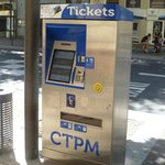 Bus ticket machine 1 block away