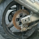 My brake disc got rusty