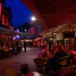 Looking down Grotestraat from Le Bistro at night
