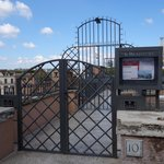 Rooftop entrance, private gate