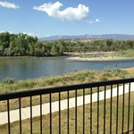 The balcony overlooking the Colorado River