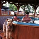 Hot tub fun in Buffalo, WY KOA