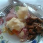filey grange eggs benedict.  yum.