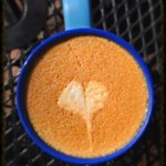 Our waitress gave me a heart on my chai! :)