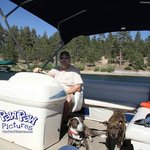 Blue & Stitch with their Daddy at Big Bear Lake