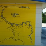 Map of Golden Bay on the reception wall.