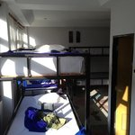 8 bed dorm room. 100B/night