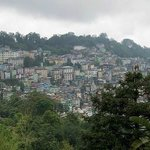 The Gangtok city from our room
