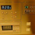 Control panel - aircon control, radio, room lights, alarm clock