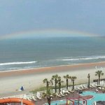 A rainbow over the ocean!