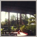 a beautiful tropical feel in the covered outdoor dining area. This was a very peaceful place to