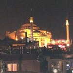 Blue Mosque from Tria Rooftop Restaurant