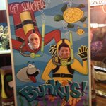 """Photo Op, """"Get Shucked"""" at Bunky's."""