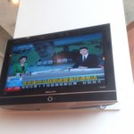 Only chinese tv on the 8+ TVs in the dining area.