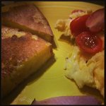 French toast and eggs