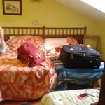 The room with our suitcases