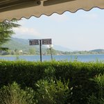 The view of Lake Ohrid from our patio