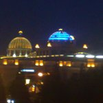 Trafford Centre by night - view from our room
