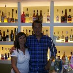Nikos and his wonderful mother-in-law, Andrea, running the bar