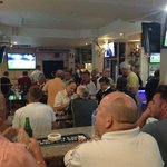 The bar area during the Wallabies/Lions game.