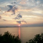 Sunset over the Choptank River - taken from the back yard