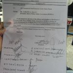 Letter stating each person should pay P30 entrance fee.