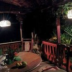 Evening on the veranda of Banyan cottage